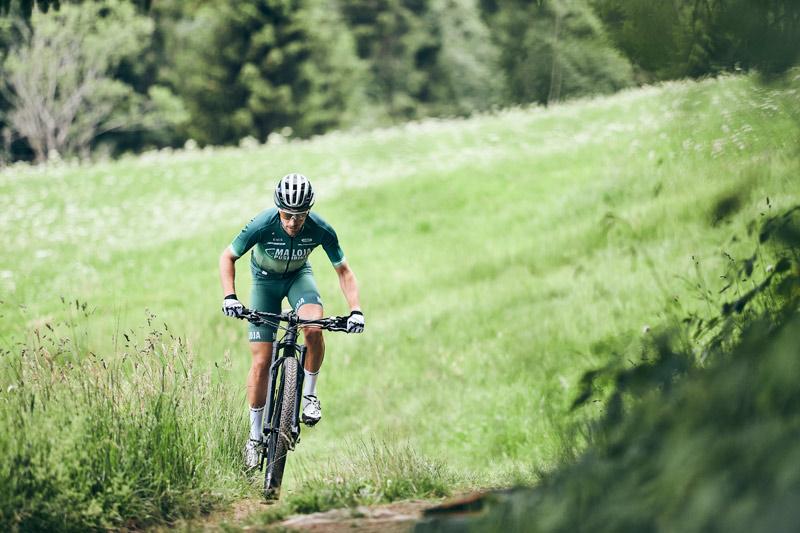 Training für den Mountainbike Weltcup